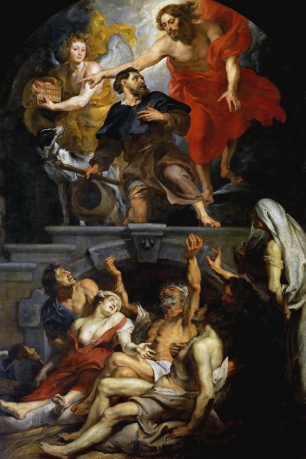Heilige Rochus en de pestlijders, Pieter Paul Rubens, 1623-1626.